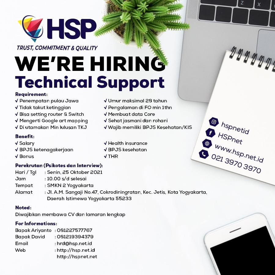 Technical Support HSPnet